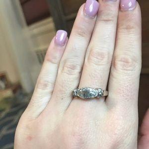 14K White Gold Diamond Baguette Ring